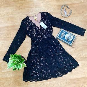 H&M Black Lace Party Dress NWT